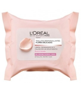 L'Oréal Towelettes Makeup Removers Delicate Flowers Rose and Jasmine Sensitive Skin Normal to Dry