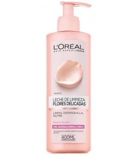 L'Oréal Cleansing Milk Removers Delicate Flowers Rose and Jasmine Sensitive Skin Normal to Dry