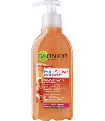 Garnier Pure Acive Fruit Energy Gel Purificante Energizante 200 ml